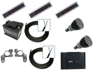led leuchtreklame solarset 60 watt 12 volt dc www. Black Bedroom Furniture Sets. Home Design Ideas